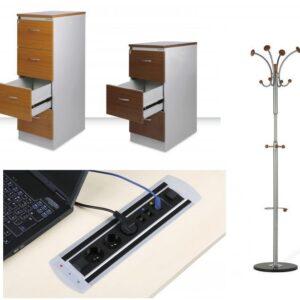Kancelářské doplňky, kovový nábytek